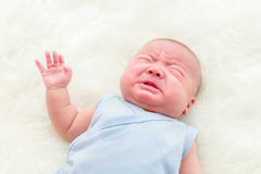 Newborn baby cry Royalty Free Stock Image