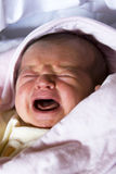 Newborn baby  crying Stock Photography
