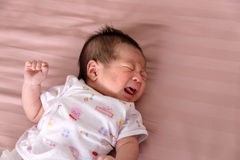Newborn Baby Crying. Asian Newborn Baby Crying, Baby boy royalty free stock images