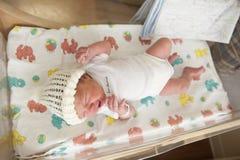 Newborn baby crying Stock Image