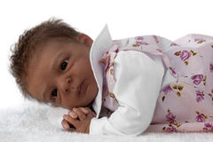 Newborn Baby Doll Stock Photo