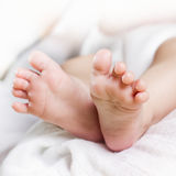 Newborn baby feet Stock Images