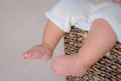 Newborn baby feet Royalty Free Stock Images
