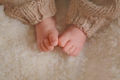 Newborn baby feet Royalty Free Stock Photos