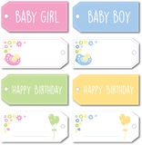 Newborn baby gift tag Stock Photography