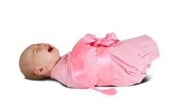 Newborn baby girl Royalty Free Stock Photography