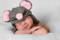 Newborn baby girl stock photo