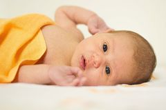 Newborn baby girl Stock Photography