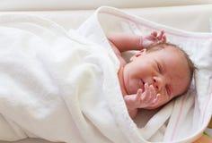 Crying Newborn Baby Girl Stock Images