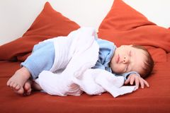 Sleeping newborn baby girl Royalty Free Stock Image