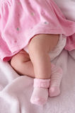Newborn baby girl feet Stock Photography