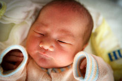 Newborn Baby girl in the Hospital Royalty Free Stock Photo
