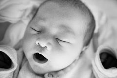 Newborn Baby girl in the Hospital Stock Image