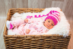 Newborn baby girl Royalty Free Stock Photos