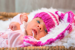 Newborn baby girl Stock Images