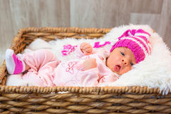 Newborn baby girl Stock Photography