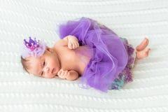 Newborn baby girl princess Stock Photography