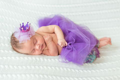 Newborn baby girl princess Royalty Free Stock Photo