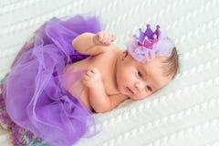 Newborn baby girl princess Stock Photo