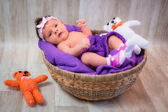 Newborn baby girl Stock Photo