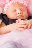 Newborn Baby Girl Sleeping Stock Photography