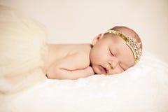Newborn Baby Girl Sleeping Royalty Free Stock Photo