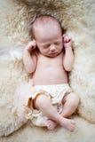 Newborn baby girl Stock Image