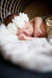 Newborn baby girl Stock Photos