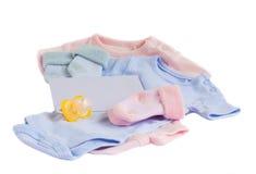 Newborn baby greeting Stock Images
