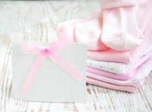 Newborn Baby Greeting Stock Photos