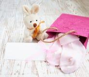 Newborn Baby Greeting Stock Image