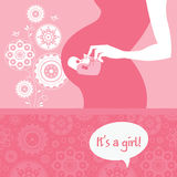 Newborn baby greeting card Royalty Free Stock Images