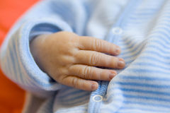 Newborn baby hand (Close-up, soft focus) Stock Photography
