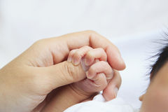 Newborn baby hand Royalty Free Stock Image