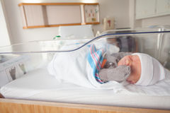 Newborn Baby in Hospital Royalty Free Stock Photography