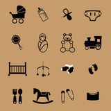 Newborn and baby icons Royalty Free Stock Images