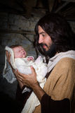 Newborn baby Jesus Royalty Free Stock Photo