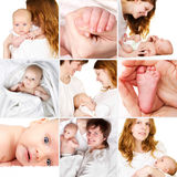 Newborn baby with mother and father Royalty Free Stock Images