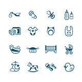 Newborn baby objects icons | MICRO series vector illustration