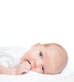 Newborn baby one month age Stock Photo