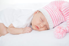 Newborn baby one month age Royalty Free Stock Photo