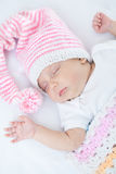 Newborn baby one month age Stock Image
