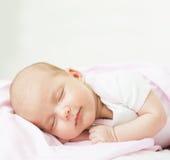 Newborn baby one month age Stock Image