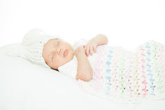 Newborn baby one month age Stock Photography