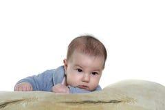 Newborn baby over white Stock Photo