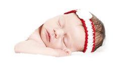 Newborn baby peacefully sleeping Royalty Free Stock Photo
