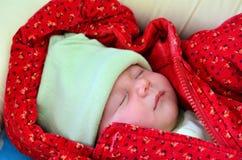 Newborn baby - portrait Stock Photos