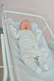 Newborn baby in prenatal hospital Royalty Free Stock Photos