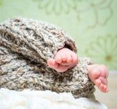 Newborn baby's legs Royalty Free Stock Photography