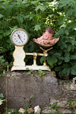 Newborn baby in a scale Stock Photography